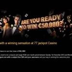 77Jackpot November 50K Competition