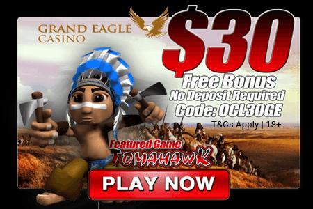 Grand Eagle Casino No Deposit Bonus 30 Free