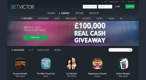 BetVictor Casino Review - Player Deposit Bonuses & Ratings
